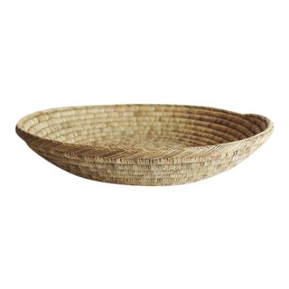 Large Handwoven Shallow Basket