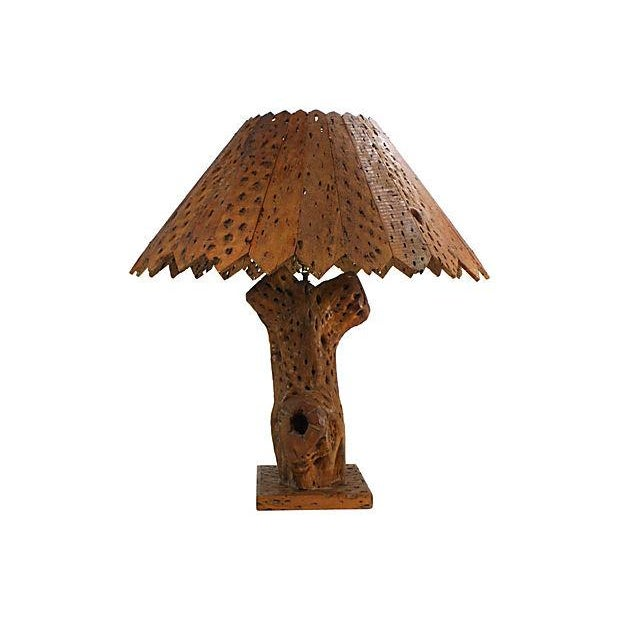 Image of Cholla Cactus Handcrafted Table Lamp