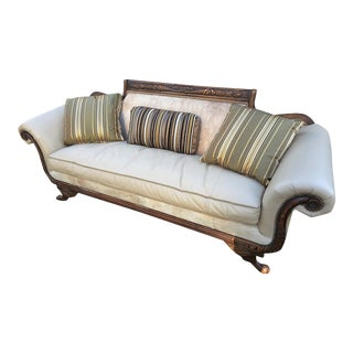 Old Hickory Tannery Horsehair & Leather Sofa