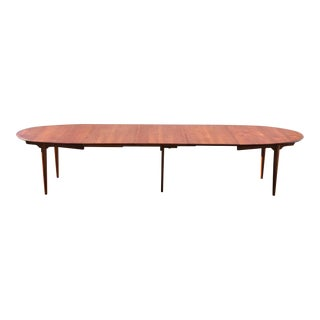 Hans J. Wegner Danish Modern Teak Oval Table