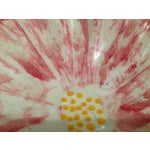 Image of Vintage Stangl Pottery Pink Anemone Floral Dish