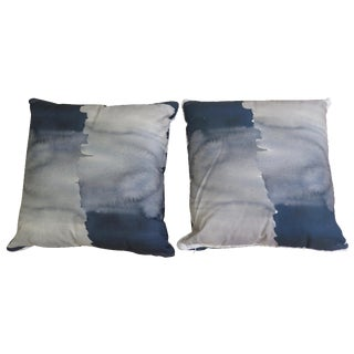 Watercolor Inspired Pillows - A Pair
