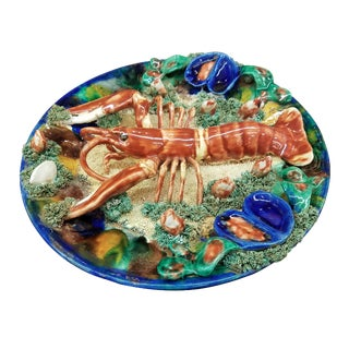 Minton Palissy Lobster Wall Plate