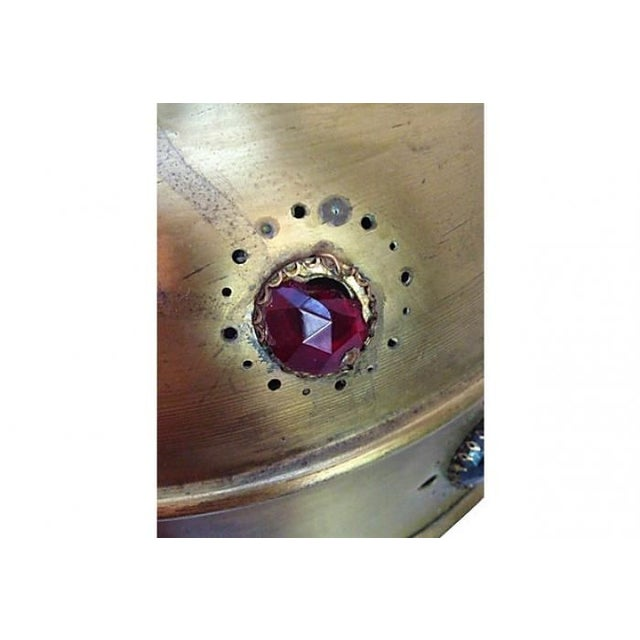 Midcentury Moroccan Brass Pendant Light - Image 3 of 10