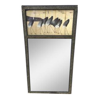 Vintage Japanese Trumeau Style Mirror