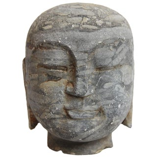 Black Stone Monk Head