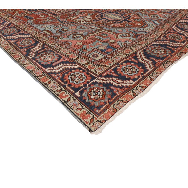"Antique Persian Heriz Rug - 8' x 10'1"" - Image 2 of 7"