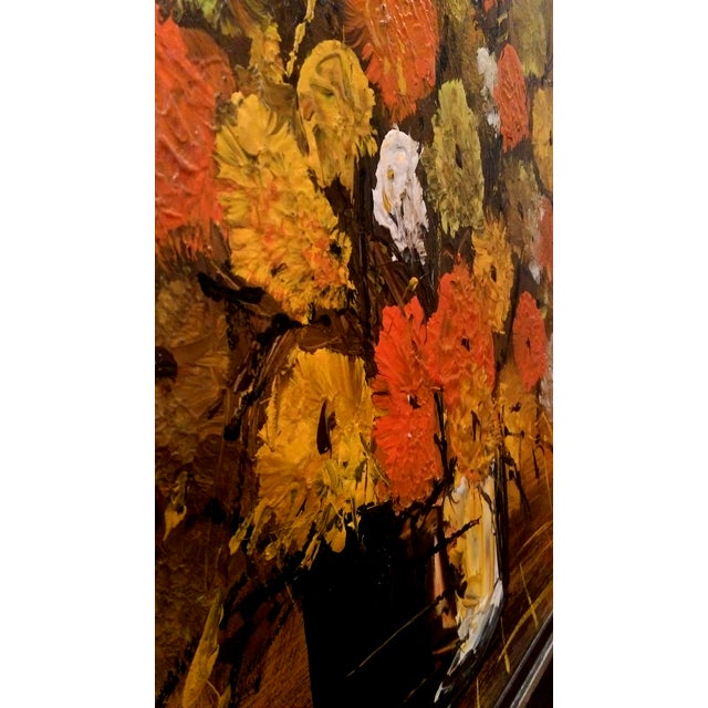 """Mid Century Floral Painting - Signed """"Clare"""" - Image 3 of 10"""