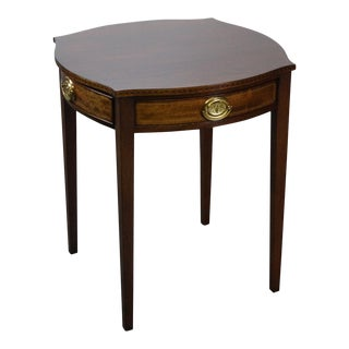 Kindel Winterthur Collection Mahogany Inlaid Hepplewhite Style Occasional Table (D)