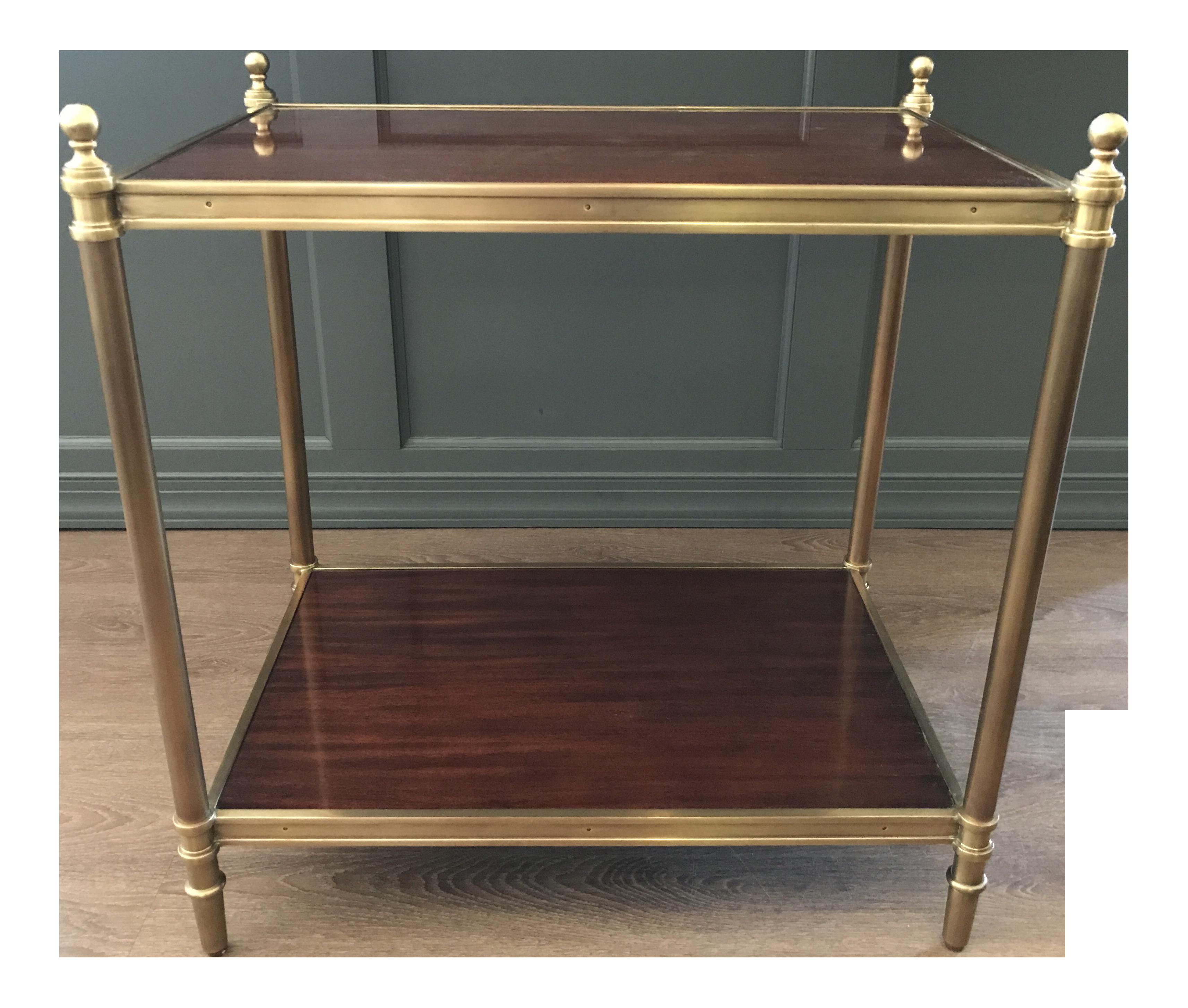 Ralph Lauren Edwardian Brass End Table