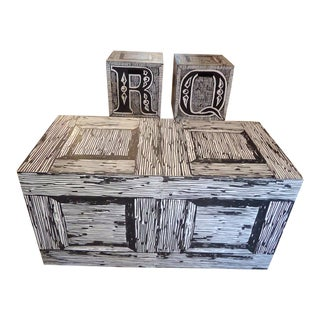 Edward Gorey Cube End/Coffee Tables - Set of 3