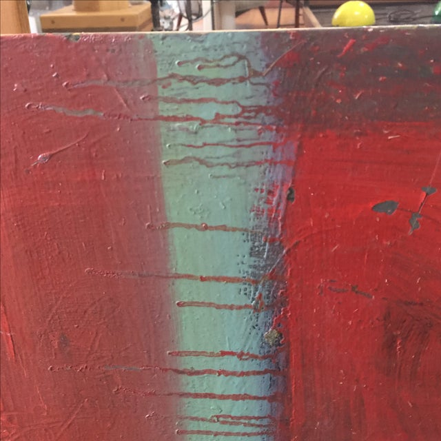 Red Abstract Painting by Trung Quo Tran - Image 3 of 6