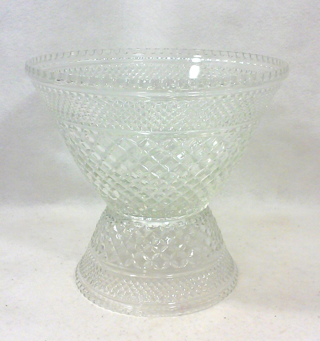 Pedestal Glass Serving Bowl And Cups Set Of 10 Chairish