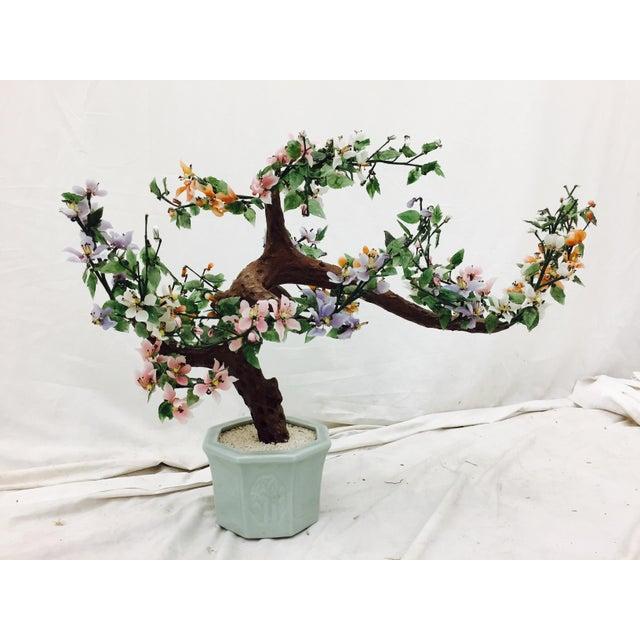 Vintage Mixed Stone Bonsai Tree Sculpture - Image 7 of 11