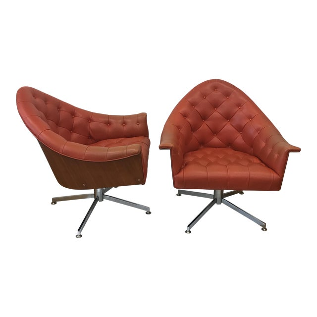 4320 Chairs by M Baughman for Thayer Coggin - a Pair - Image 1 of 11