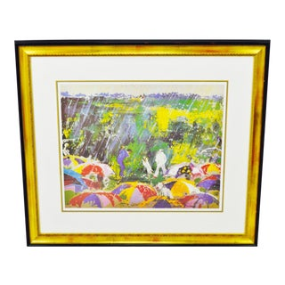 1973 LeRoy Neiman Arnie In The Rain Framed Lithograph with COA on Verso