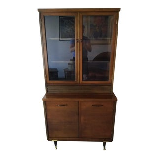 Mid-Century Modern 2 Piece Hutch/Storage Cabinet