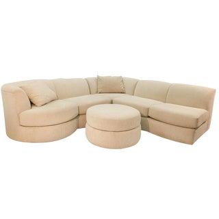 Weiman Mid Century Modern Sectional Sofa & Ottoman