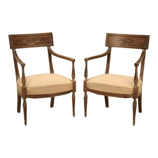 French Directoire Style Armchairs, circa 1860
