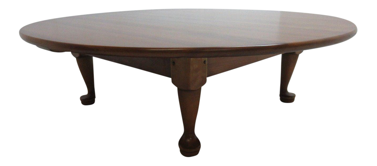Stickley Cherry Valley Round Tradition Queen Anne Coffee Table
