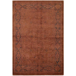 Overdyed Color Reform Claribel Rose Wool Rug - 6'2 X 8'9