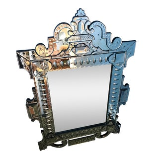 Large Murano Glass Style Mirror