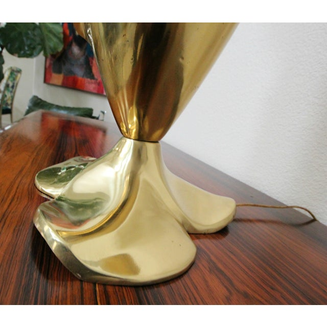Rougier Brass & Acrylic Calla Lily Table Lamp - Image 4 of 8