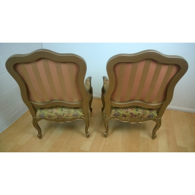 Image of Ethan Allen Chantel Floral Chairs - Pair