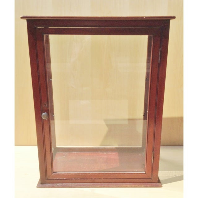 19th C. English Mahogany Counter Top Display Case - Image 4 of 6