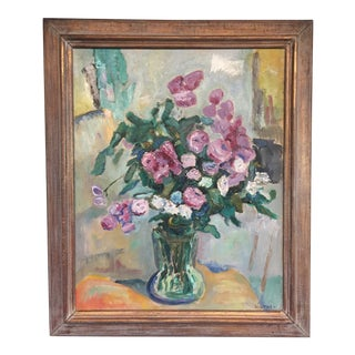 "Vintage Modernist Mid-Century ""Still Life"" Signed Painting"