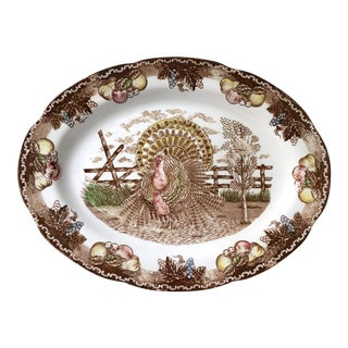 Vintage Ironstone Turkey Serving Platter