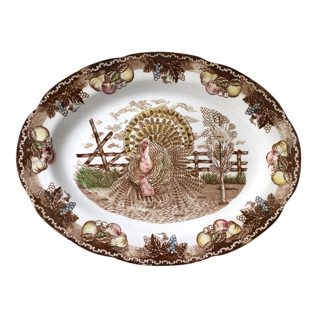 Vintage Ironstone Turkey Serving Platter - Image 1 of 4
