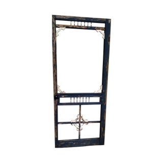 Antique Victorian Door Screen