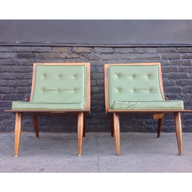 Image of Carter Brothers Mid-Century Scoop Chairs - A Pair