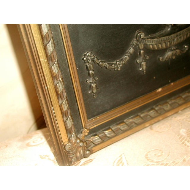 Neoclassical French Gilt Black Etched Mirror - Image 6 of 8