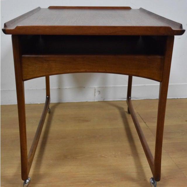 Image of Ingvard Jensen Rolling Teak Bar Cart