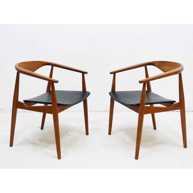 Danish Barrel Teak Armchairs - A Pair - Image 3 of 10