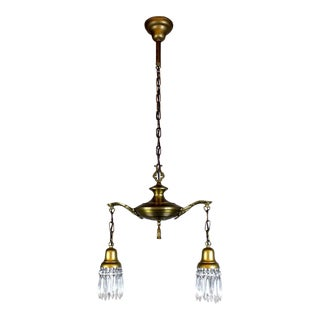 2 Light Colonial Revival Style Pan Fixture