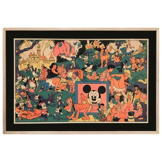 Original Disney Memorial Orgy Poster by Wally Wood