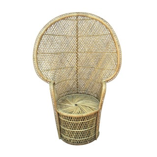 Vintage Rattan & Wicker Peacock Chair