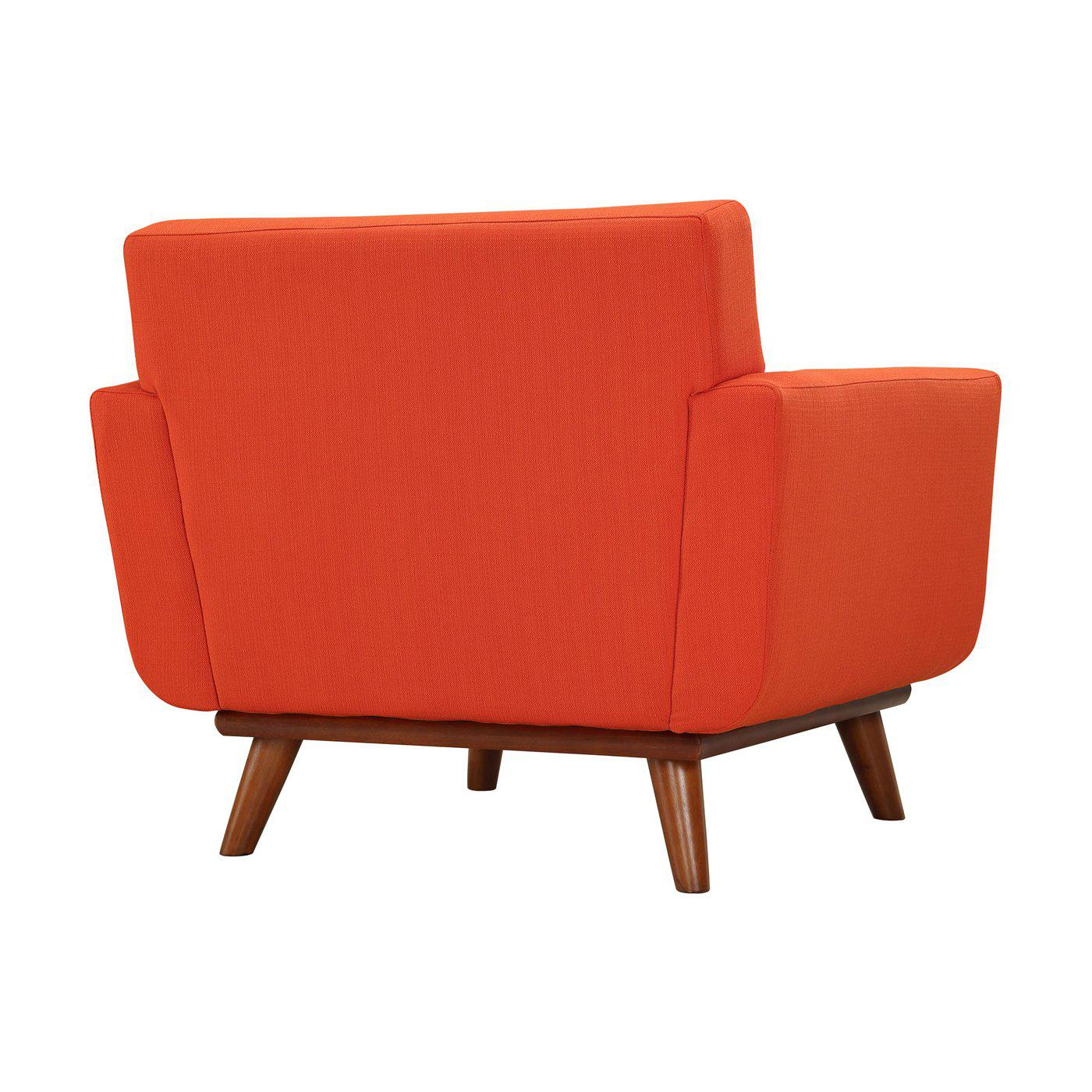 Tufted Red Armchair   Image 4 Of 5