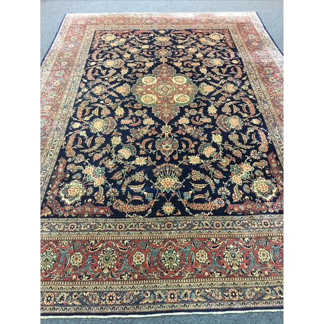 "Image of Vintage Turkish Wool Rug - 8'10"" x 12'5"""