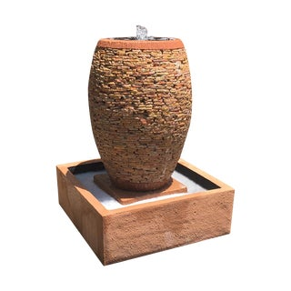 Peach Pebble Stacked Fountain