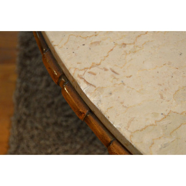 Mid Century Two Tone Coffee Table By Weiman: Mid-Century Weiman Round Marble Coffee Table