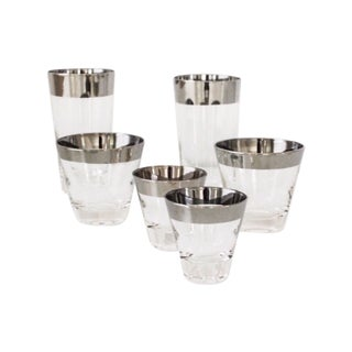 Mid-Century Silver Cocktail Glasses - Set of 18