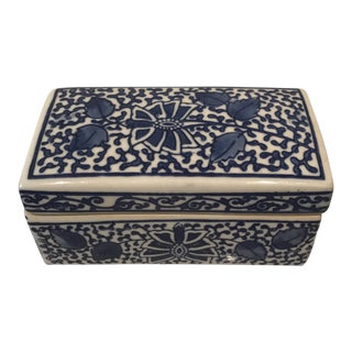 Blue & White Ceramic Box