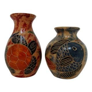 Miniature Ceramic Vases - A Pair
