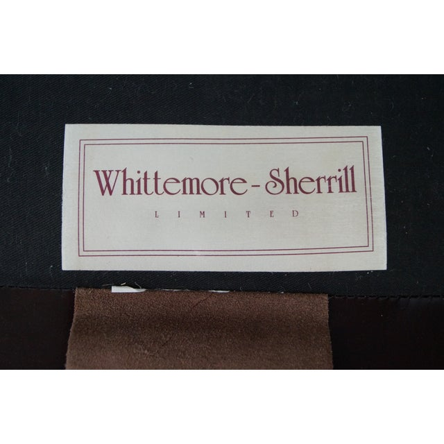 Whittemore Sherrill Oxblood Leather Club Chair With