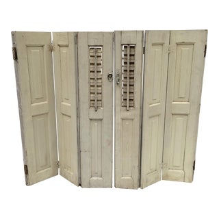 Vintage French Mini Trifold Shutters - A Pair