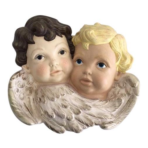 """""""Sweet Faces"""" Cherub Plaque - Image 1 of 6"""